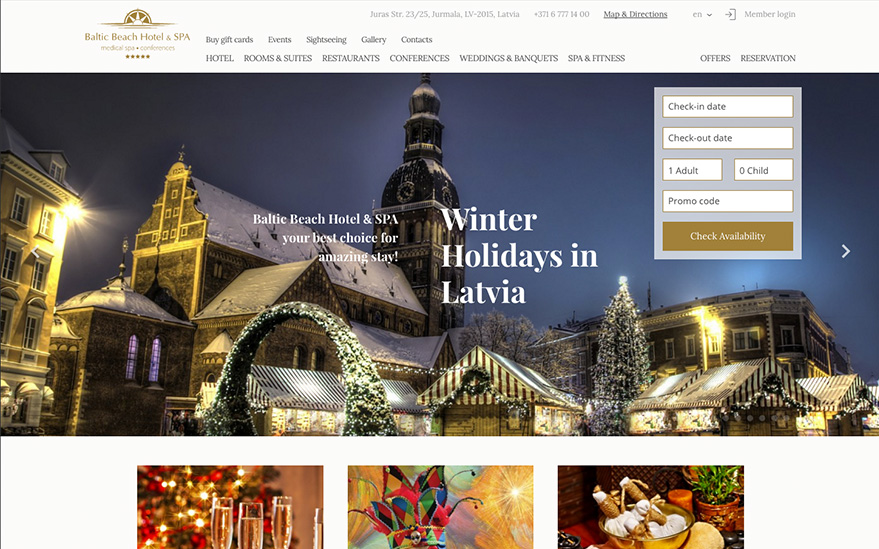 Baltic Beach Hotel : Desing, Development, SEO, Conversion optimization