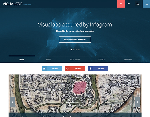 Visualoop by Infogram : Development