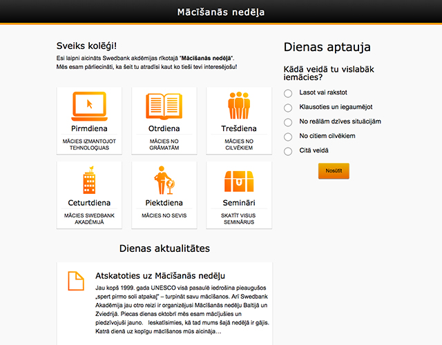 Swedbank Academy : Design, Development